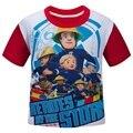 Fireman Sam Fireman Sam Crianças Camisa de Algodão Roupas Meninos T-shirt de Manga Curta Bonito de Verão Grandes Meninos Crianças camiseta DC768
