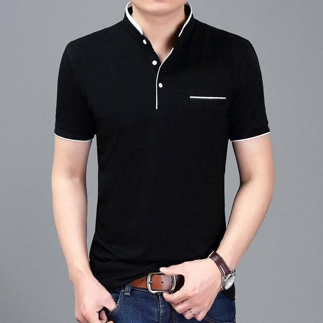 b401e33e976 2017 Verão New Casual Camisa Gola Polo Dos Homens de Boa Qualidade Slim Fit  Algodão Camisa