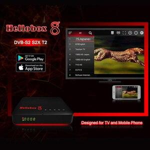 Image 3 - Hellobox 8 수신기 위성 TV 수신기 H.265 DVB S2X 10Bit 콤보 TV 박스 DVB S2/T2/C 셋톱 박스 PC/핸드폰/태블릿 재생 TV