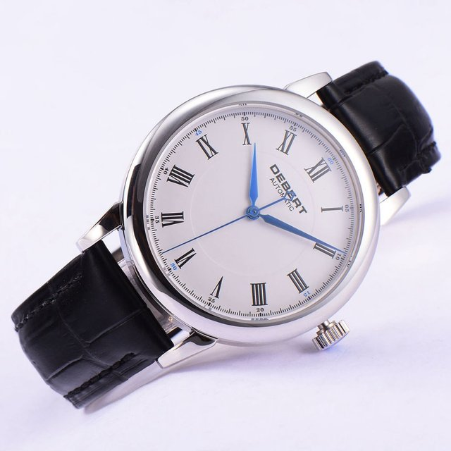 mens luxurman watch white diamond mop watches