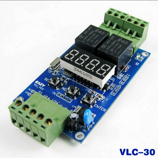VLC-30 Controller Dual programmable 12V relay module  / off cycle timer vlc electronics v fanl 80
