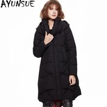 AYUNSUE, высокое качество, зимнее пальто для женщин, белый утиный пух, куртка с подкладкой, Женская парка с капюшоном, женские пальто, Abrigos Mujer WXF339