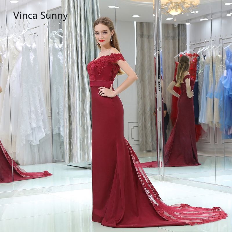 Vinca Sunny vestido de festa de casamento 2018 Burgundy bridesmaid dresses  long Mermaid robe demoiselle d honneur Custom -in Bridesmaid Dresses from  ... 6a88f2165487