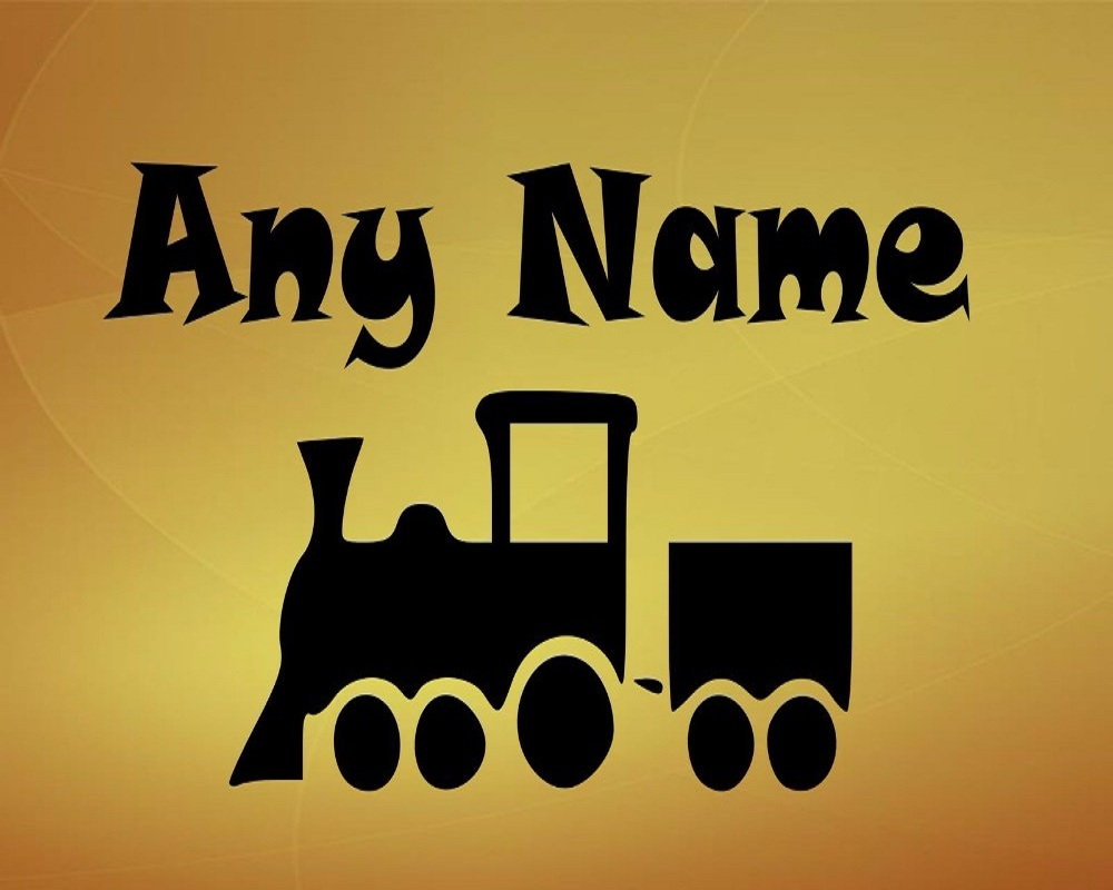 Lovely Train Customized Personalised Vinyl Home Wall Sticker With ...