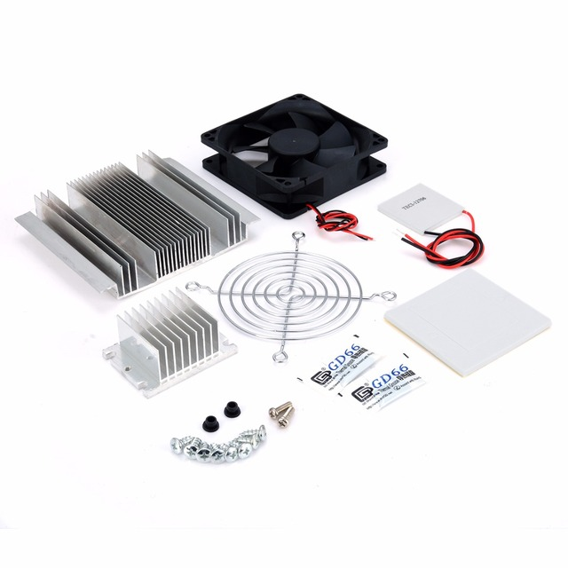 DC 12V Thermoelectric Peltier Refrigeration Cooling System Semiconductor Air Conditioner Cooler DIY Kit 3
