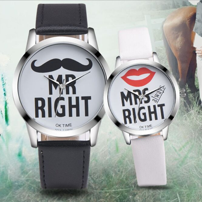 2017 Fashion Korea Couple Watches Popular Woman Man Casual Quartz Watch Minimalism Lover'S Gift Clock High Quality School Clock