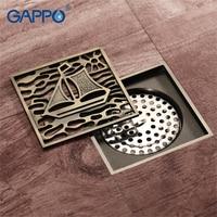 GAPPO Drains Anti odor Bathroom Floor Drainer bathroom drainers stoppers Bath Shower Drainer Strainers