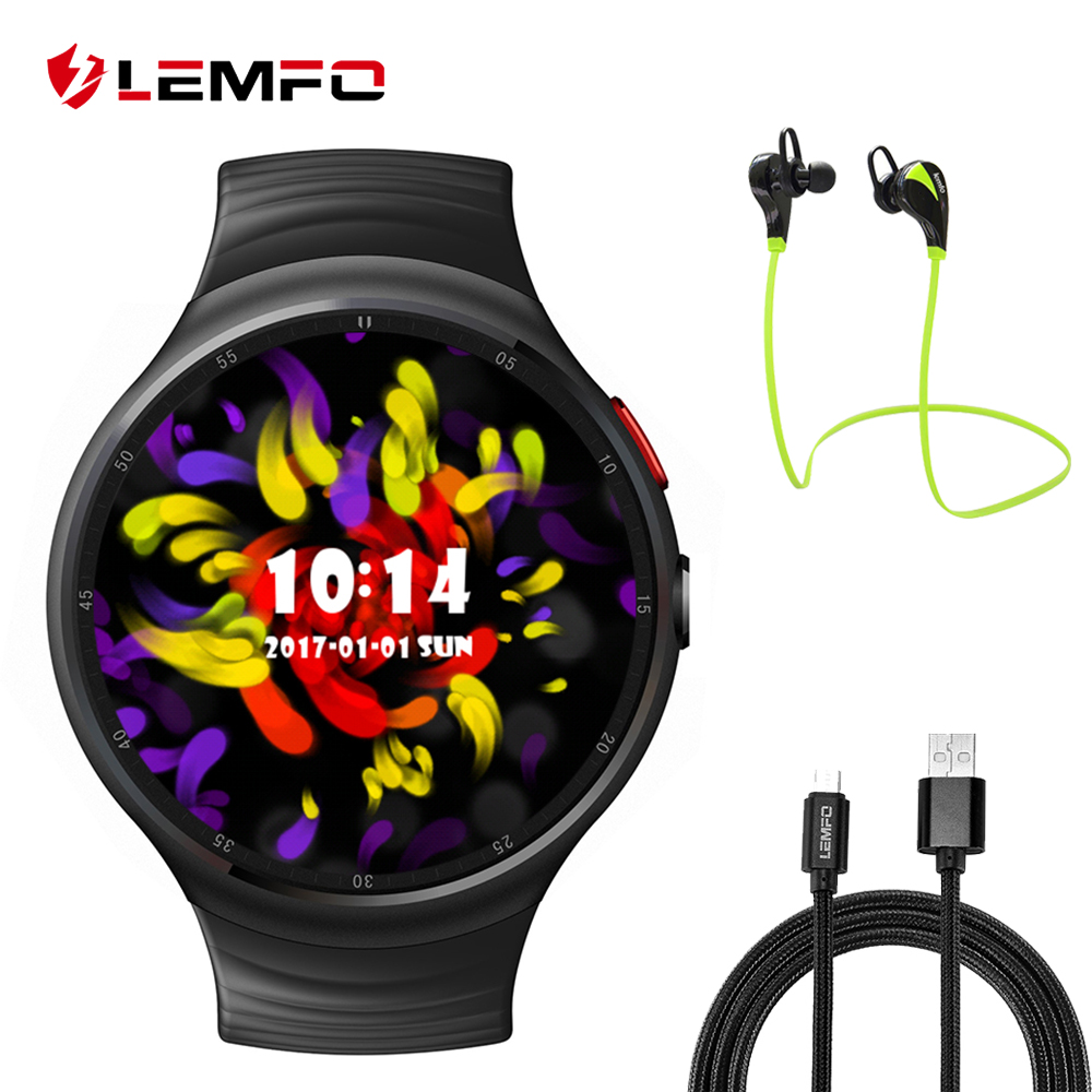 LEMFO LES1 Smart Watch Phone support Android 5 1 MTK6580 1GB 16GB SIM card 3G Wifi