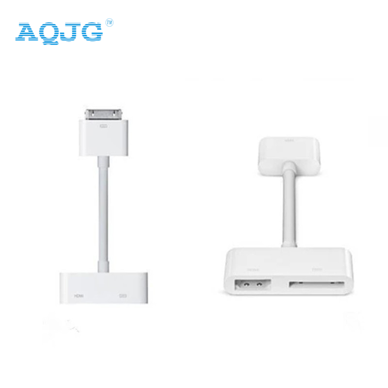 1080P Digital HDMI Cable High Definition Dock Connector Kit 30pin to HDMI AV HDTV Adapter for iPhone 4 4s for iPad 2 3 for iPod