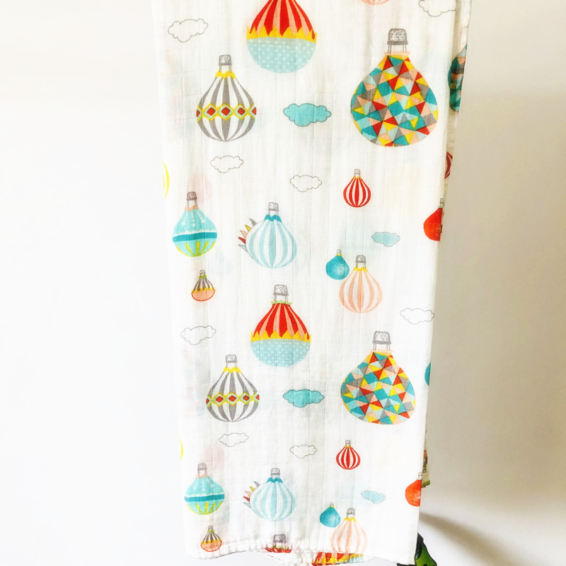 Ins Muslin Blankets Baby Muslin Blanket Swaddle Bamboo Cotton Newborn Baby Bath Towel Swaddle Blankets MultiFunctions Baby Wrap