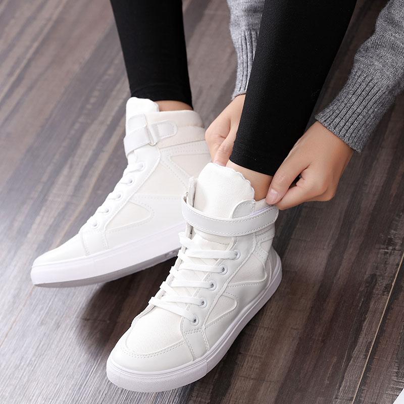 info pour af5c2 d3c32 € 19.02 16% de réduction|2017 air force haute toile chaussures femmes  printemps étudiants en cours d'exécution plat respirant chaussures baskets  blanc ...