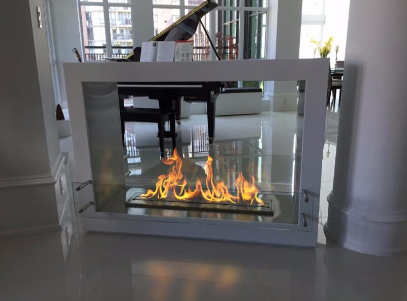 On Sale Ethanol Fireplace With Remote Control Black/stainless Steel