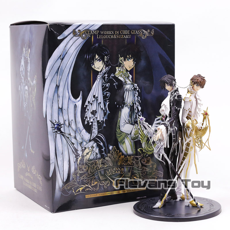 Code Geass Lelouch Lamperouge & Kururugi Suzaku PVC Figure Model Toy CLAP WORKS Collection Figurine 24cm kururu suzaku code geass lelouch of the rebellion action figure pvc collection model toys brinquedos for christmas gift