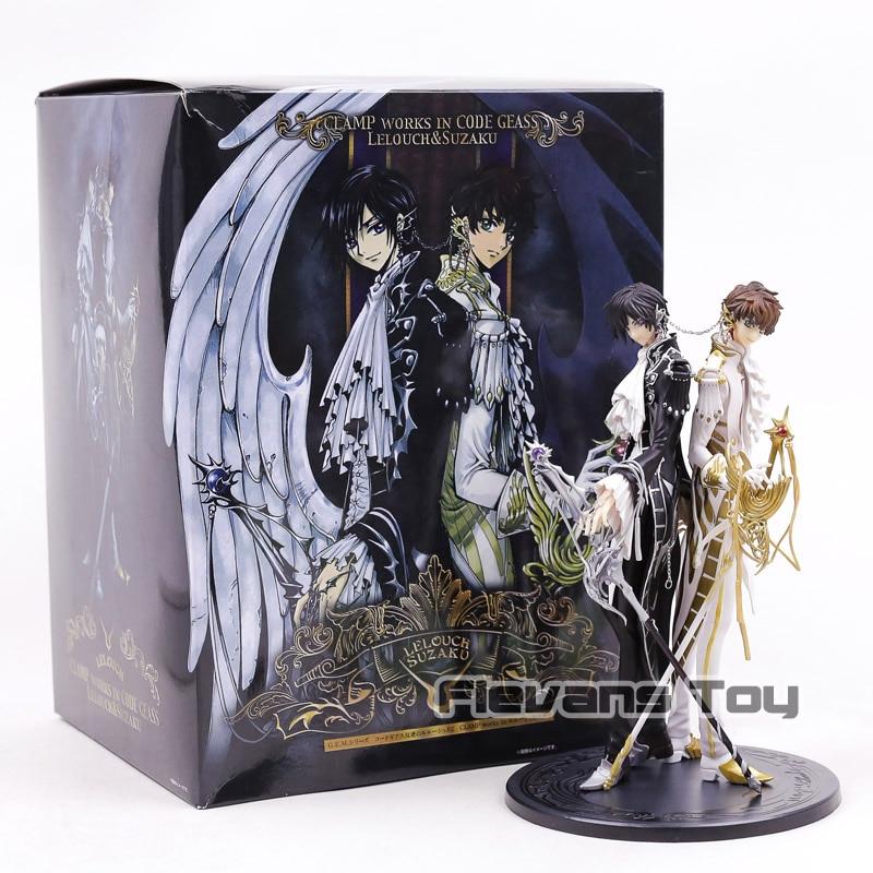 Code Geass Lelouch Lamperouge & Kururugi Suzaku PVC Figure Model Toy CLAP WORKS Collection Figurine стоимость