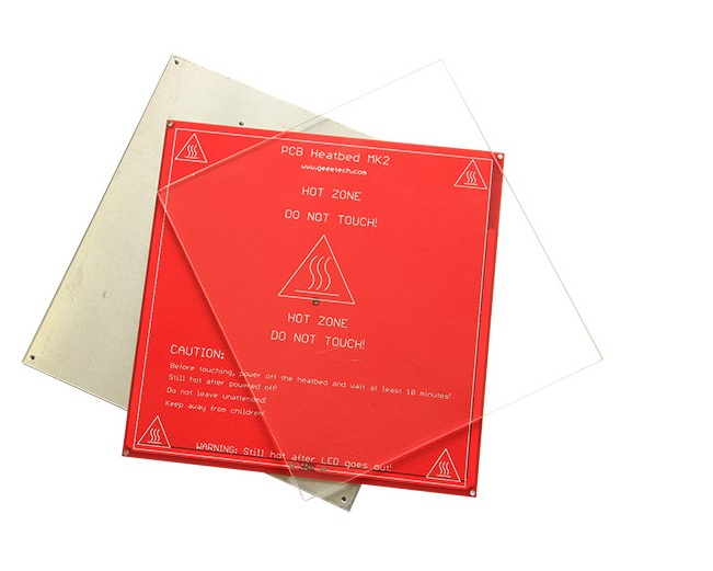 2PC 213*200*3mm borosilicate glass plate for heated bed of 3D printer