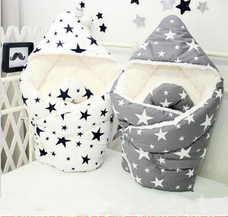 Efterår vinter nyfødt quilt bomuld præget tykkelse plus flannel baby vogne dækket tæppe varm baby quilt sengetøj