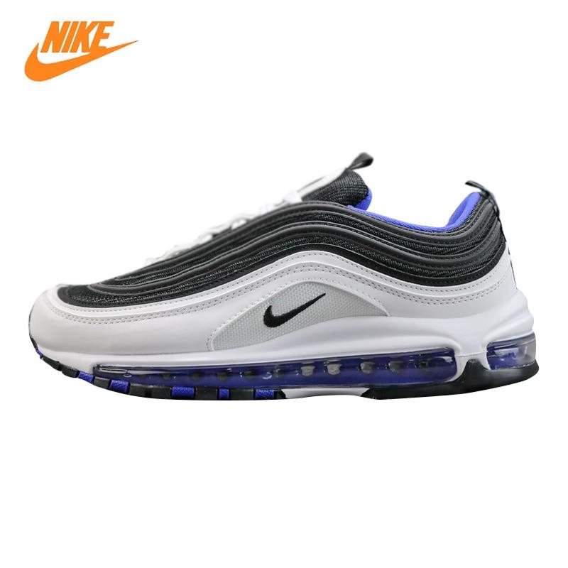 Nike Air Max 97 OG Men's Running Shoes, Black & White / Green, Lightweight Non-slip Breathable 921522 102 921522 300 nike air odyssey white black