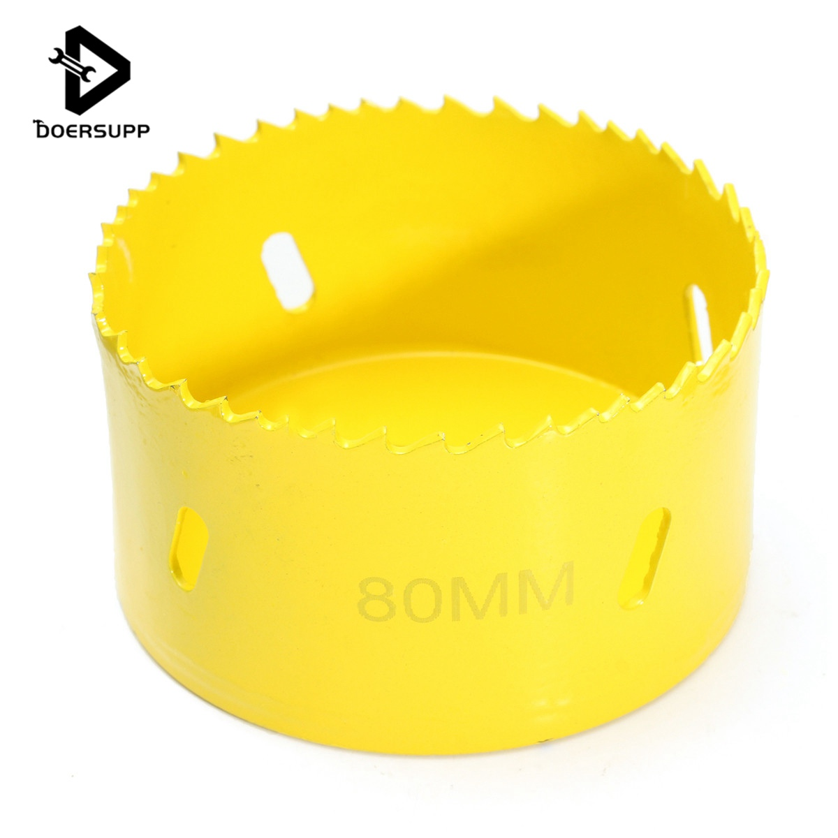 Doersupp M42 Metal Hole Saw Holesaw Cutter Arbor Pilot Drill Bit Wood Plastic 80mm Hand Power Tool Accessories new 50mm concrete cement wall hole saw set with drill bit 200mm rod wrench for power tool