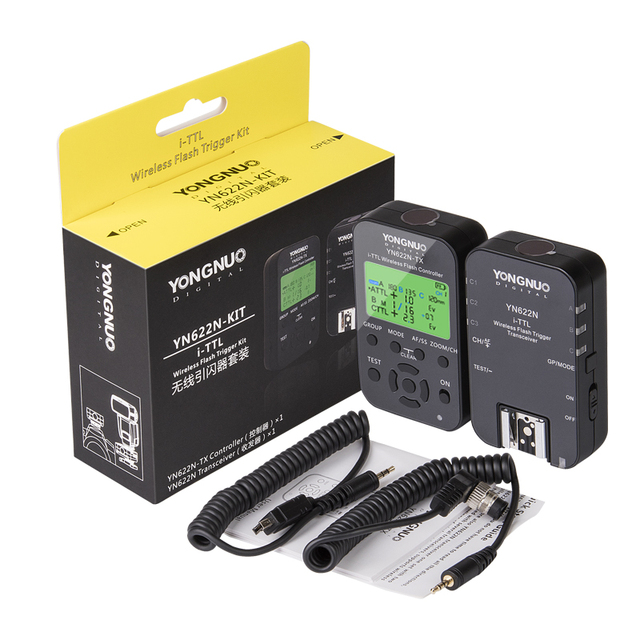Yongnuo Wireless Flash Trigger Kit YN622N KIT Transmitter Controller YN622N TX + i TTL Transceiver Receiver YN622N for Nikon