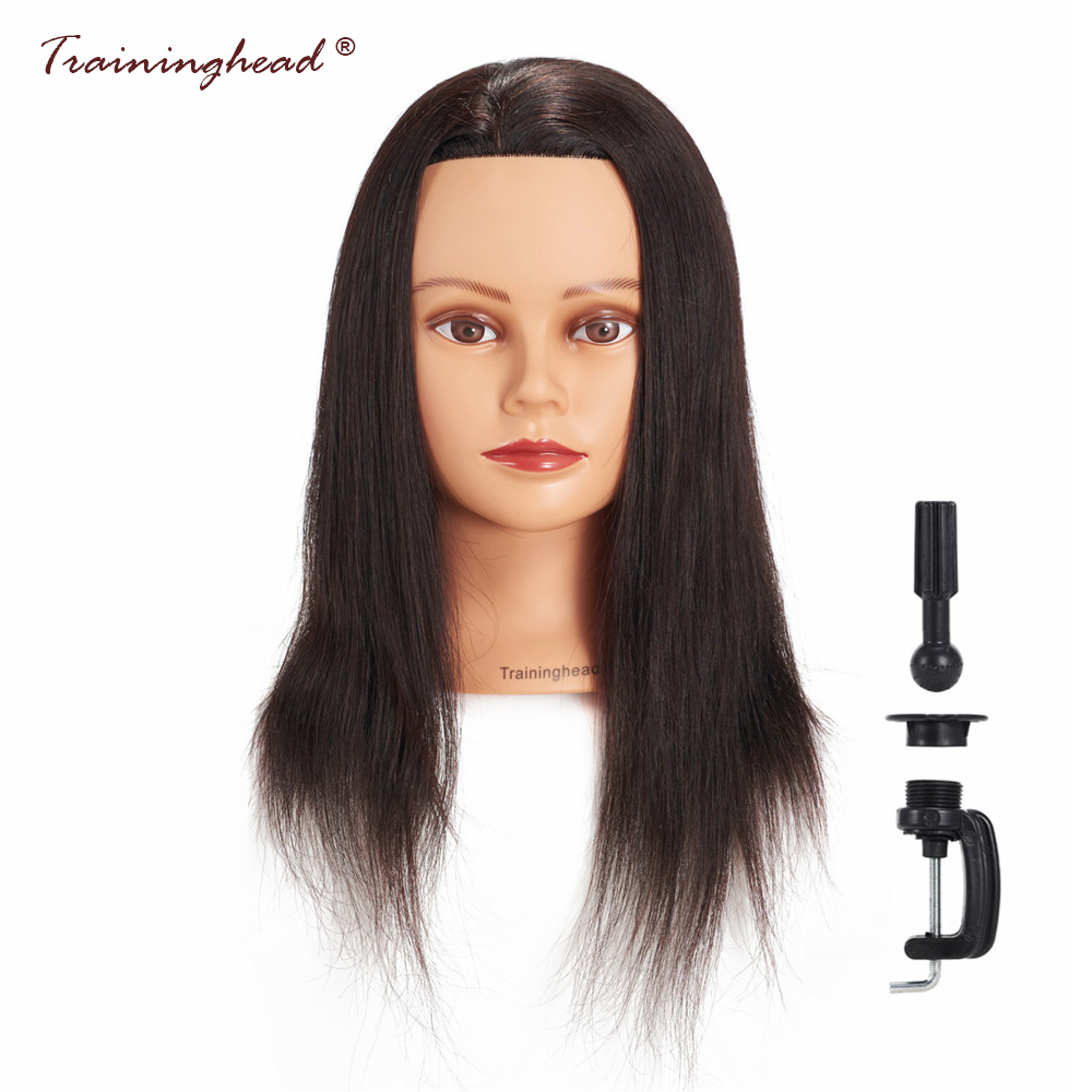 Traininghead 18-20 Salon Mannequin Head For Makeup Practice Manikin Head 20-22 Hair Styling Training Head Practice Doll Head
