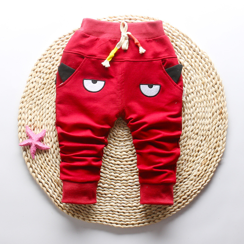 DIIMUU 1-3T Autumn Fashion Boys Girls Pants Children Clothing Toddler Bottoms Kids Elastic Cartoon Cute Casual Long Trousers 5