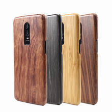 For Oneplus 6T 6 7 Pro 7T walnut Enony Wood Rosewood MAHOGANY Wooden Slim Back Case Cover(China)