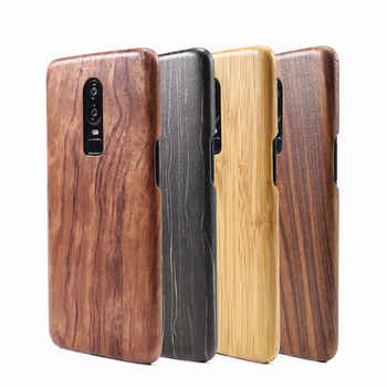 For Oneplus 6T 6 7 Pro 7T walnut Enony Wood Rosewood MAHOGANY  Wooden Slim Back Case Cover - DISCOUNT ITEM  0% OFF All Category