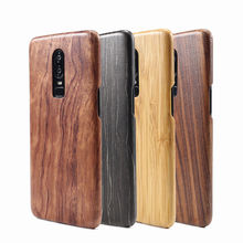 For Oneplus 6T 6 7 Pro walnut Enony Wood Rosewood MAHOGANY  Wooden Slim Back Case Cover walnut wooden american flag pattern protective back case for iphone 5 brown