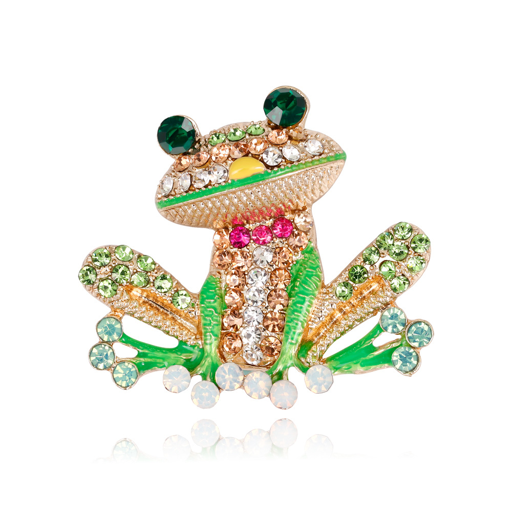 Green Frog Brooch Clothing Backpack Pin Creative Corsage Badge Women Jewelry