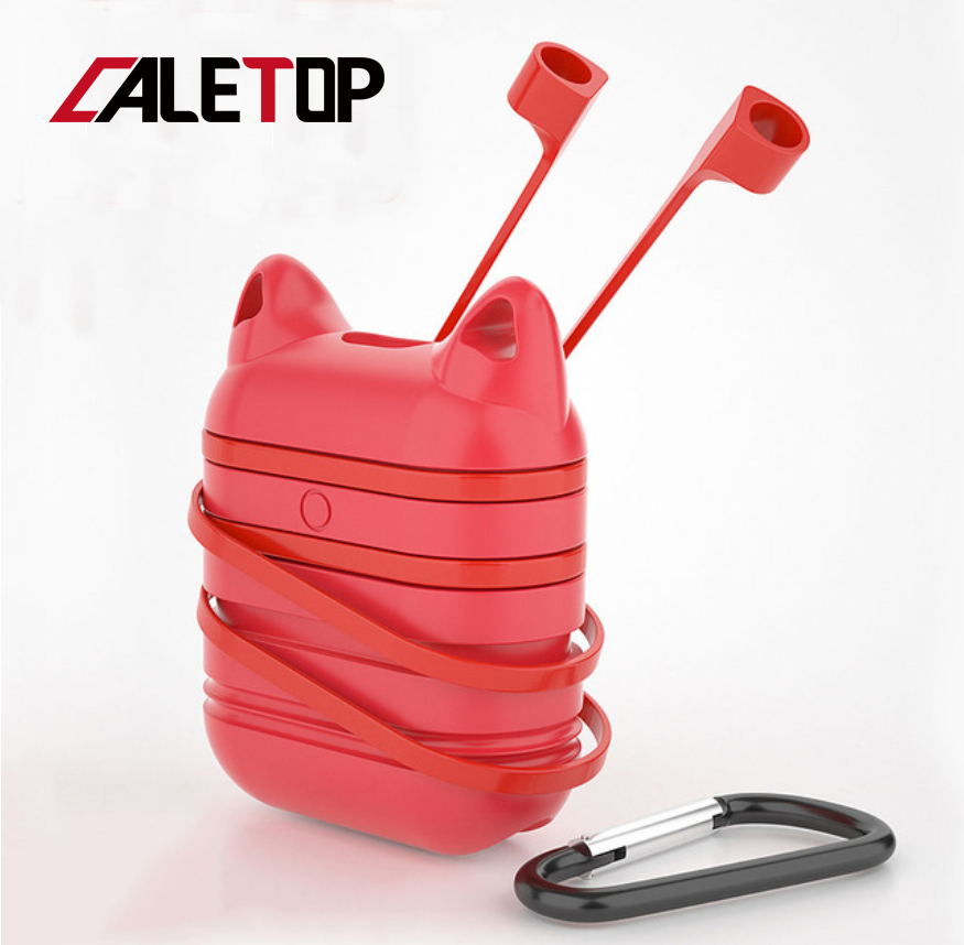 Caletop Case For Airpods Air Pods Cases i10 TWS Anti Knock Silicone Protective Cover For Airpod Accessories with Anti Lost Rope in Earphone Accessories from Consumer Electronics