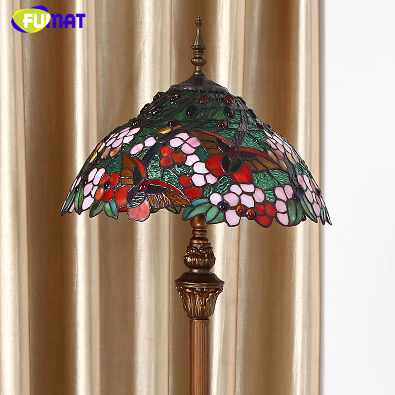 Fumat european tiffany stained glass floor lamps home decor fumat european tiffany stained glass floor lamps home decor butterfly shade floor lights stand for living room led floor lamp in floor lamps from lights mozeypictures Gallery