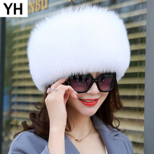 2019 Women Winter Natural Real Fox Fur Hat 100 Real Fox Fur Cap Quality Russia Warm Real Fox Fur Caps Real Fox Fur Bomber Hats cheap Adult Solid hat-9240 adjustable suitable for everyone 100 real natural fox fur