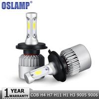 Oslamp H13 H4 H7 H11 H1 H3 9004 9005 9006 9007 9012 COB LED רכב הנורה פנס Hi-Lo Beam 72 W 8000LM 6500 K פנס אוטומטי 12 v 24 v