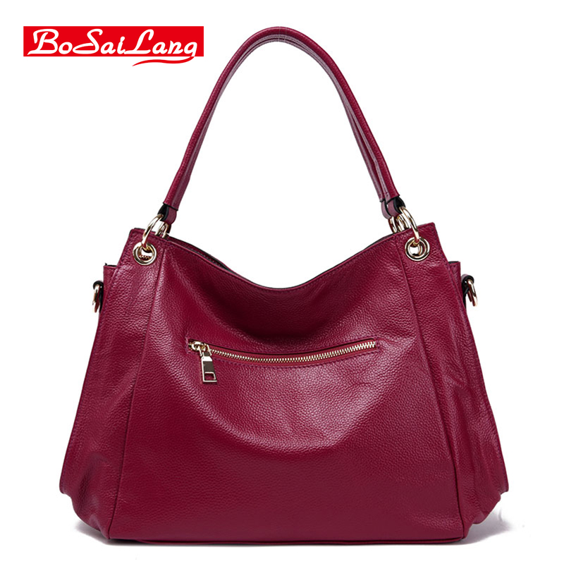 54a6eccf17 Guaranteed 100% Natural Genuine Leather Women Handbag First Layer Of Cowhide  Tote Fashion Women Messenger Bags