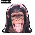 Deanfun 2017 новая мода срок годности Ежедневно рюкзак унисекс обезьяна розовый женщины рюкзаки 3d печати