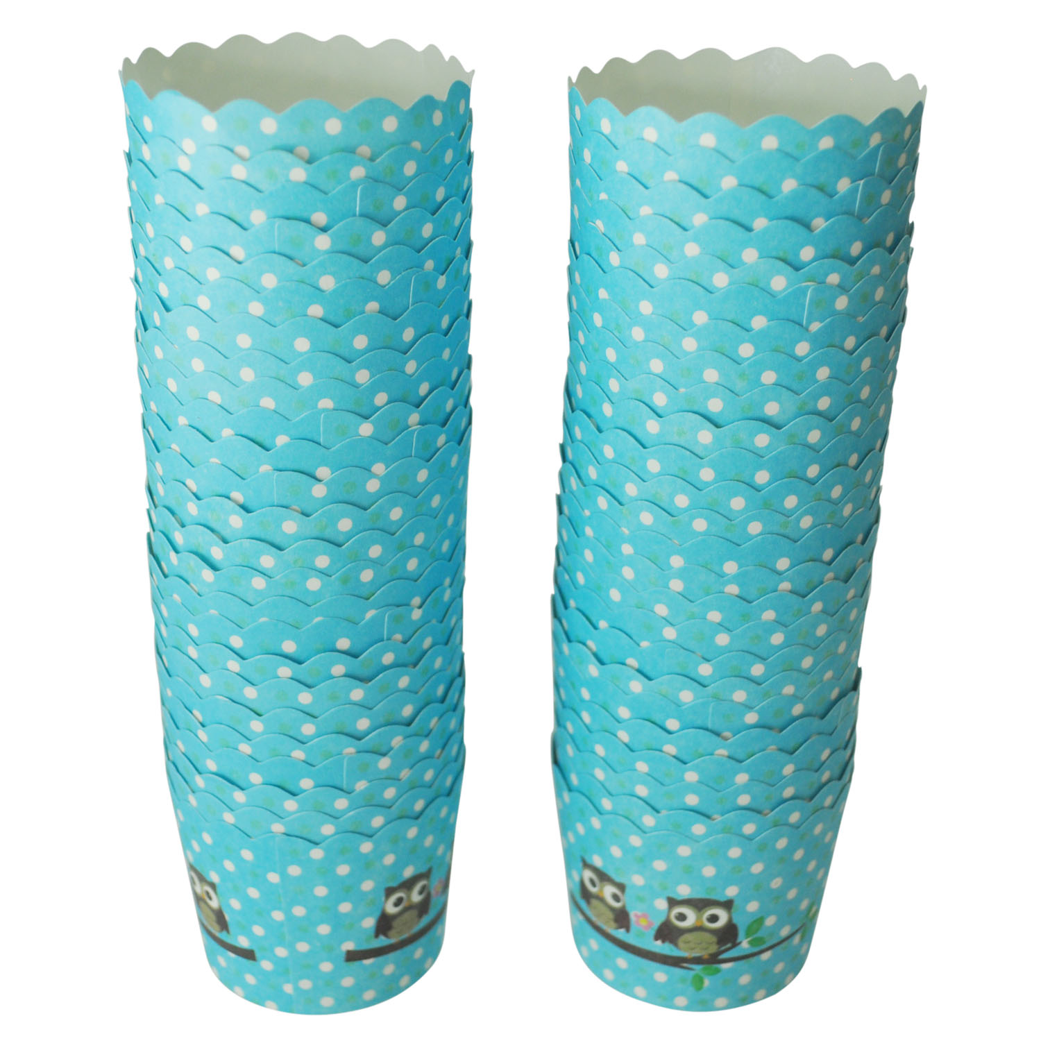 50X Blue Owl Printing Cupcake Paper Paper Cake Case Baking Cups Liner Muffin Dessert Baking Cup