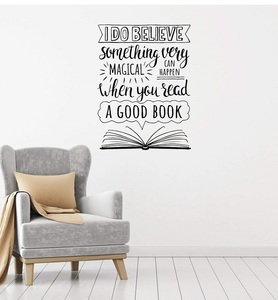 Image 1 - Inspirational slogan vinyl wall decals school library classroom study bedroom home decoration art wall stickers YD19