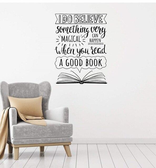 Pegatinas de pared de vinilo con eslogan inspirador, para escuela, biblioteca, aula, estudio, dormitorio, decoración del hogar, pegatinas de pared artísticas YD19