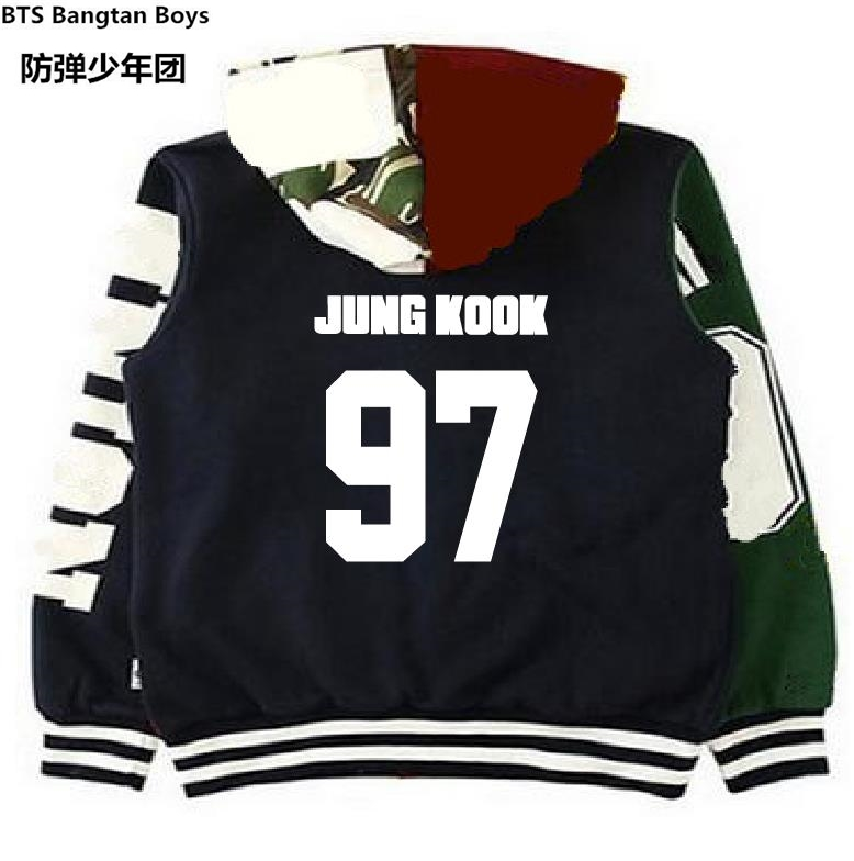 kpop bts JIMIN concert Autumn and winter style Baseball clothing k-pop Bangtan Boys Stitching hoodie k-pop women men Sweatshirts [tool] 2017 new arrival kpop bts bangtan boys army a limited edition ver ii concert lamp bomb light stick concert tool 0155