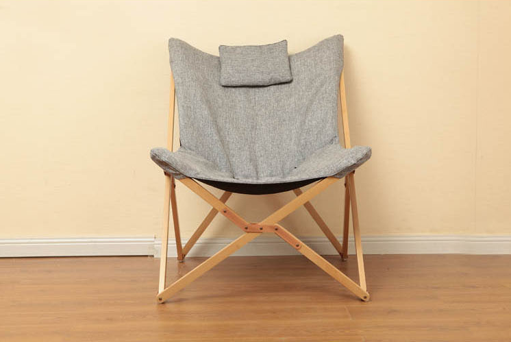 Modern Folding Butterfly Chair Portable Solid Wood Outdoor Balcony Beach  Butterfly Chair Leisure Chair Camping Chair Foldable In Beach Chairs From  Furniture ...