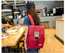 Новая мода печать рюкзак женский животных Сова женские рюкзаки высокое качество холст рюкзак для ноутбука