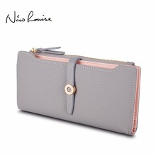 Top Quality Latest Lovely Leather Long Women Wallet Fashion Girls Change Clasp Purse Money Coin Card Holders wallets Carteras cheap Zipper Solid Synthetic Leather 9 5cm 19 4cm Zipper Poucht Interior Compartment Interior Slot Pocket Coin Pocket Card Holder Note Compartment