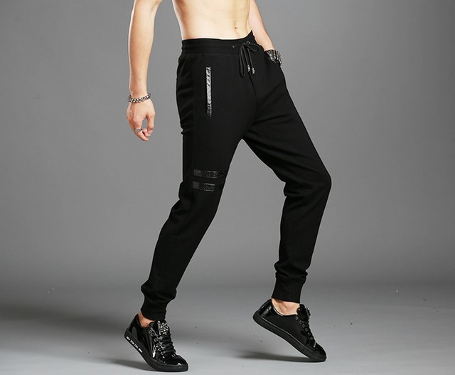 The fall of Cotton Size pants men's trousers and pants for men who increase fertilizer feet shut upon loose pants