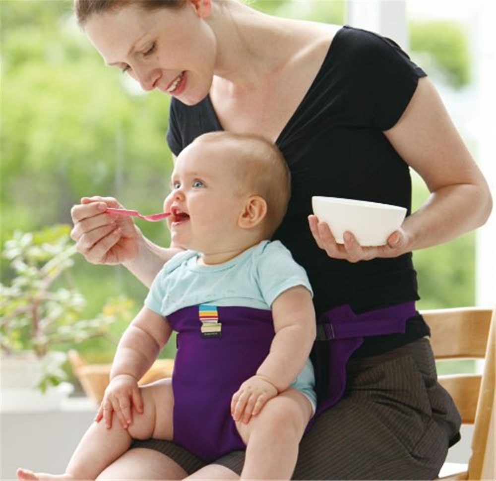 Baby Infant Chair Portable Seat Dining Lunch Chair/Seat Safety Belt Stretch Wrap Feeding Chair Harness Baby Booster Seat