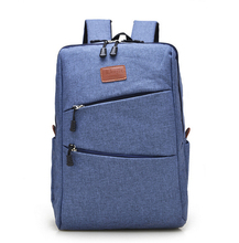Casual Canvas Cool Men's Simple Design Computer Notebook Backpacks School Bag Business Laptop Backpack Travel Bag