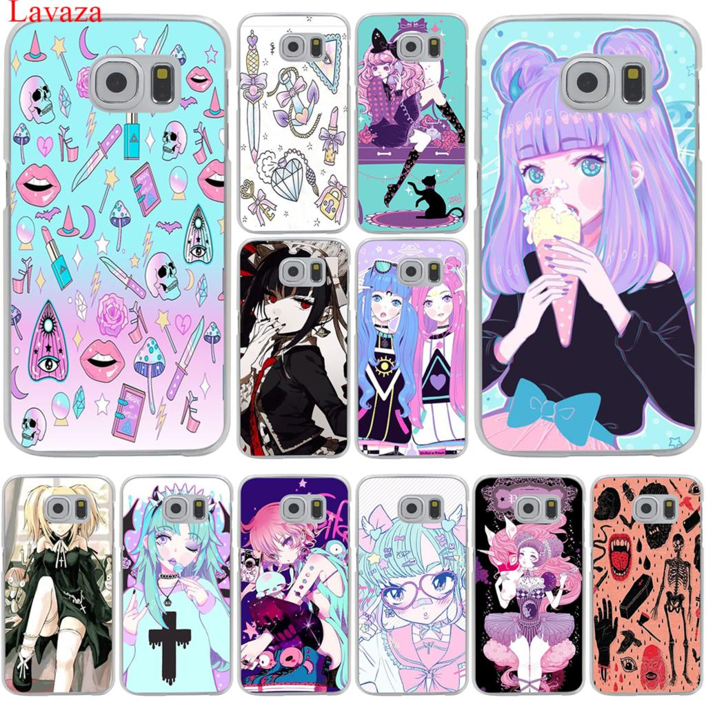Lavaza Girly Pastel Witch Goth <font><b>Phone</b></font> <font><b>Case</b></font> for <font><b>Samsung</b></font> Galaxy S20 Ultra S10E S10 Lite S6 S7 Edge S8 <font><b>S9</b></font> Plus A51 A71 A81 A91 <font><b>Cover</b></font> image
