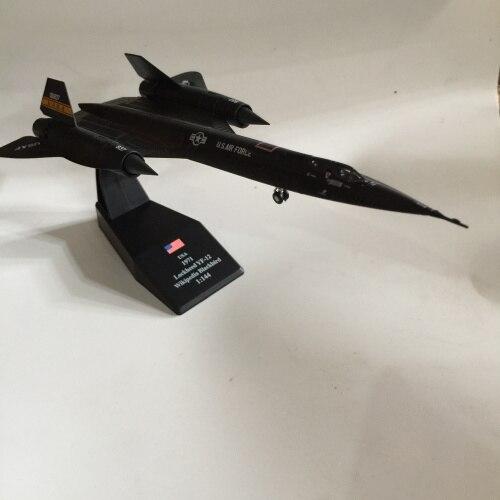 1:144 SR-71A Blackbird Reconnaissance Aircraft Diecast Stand Toy Collectible