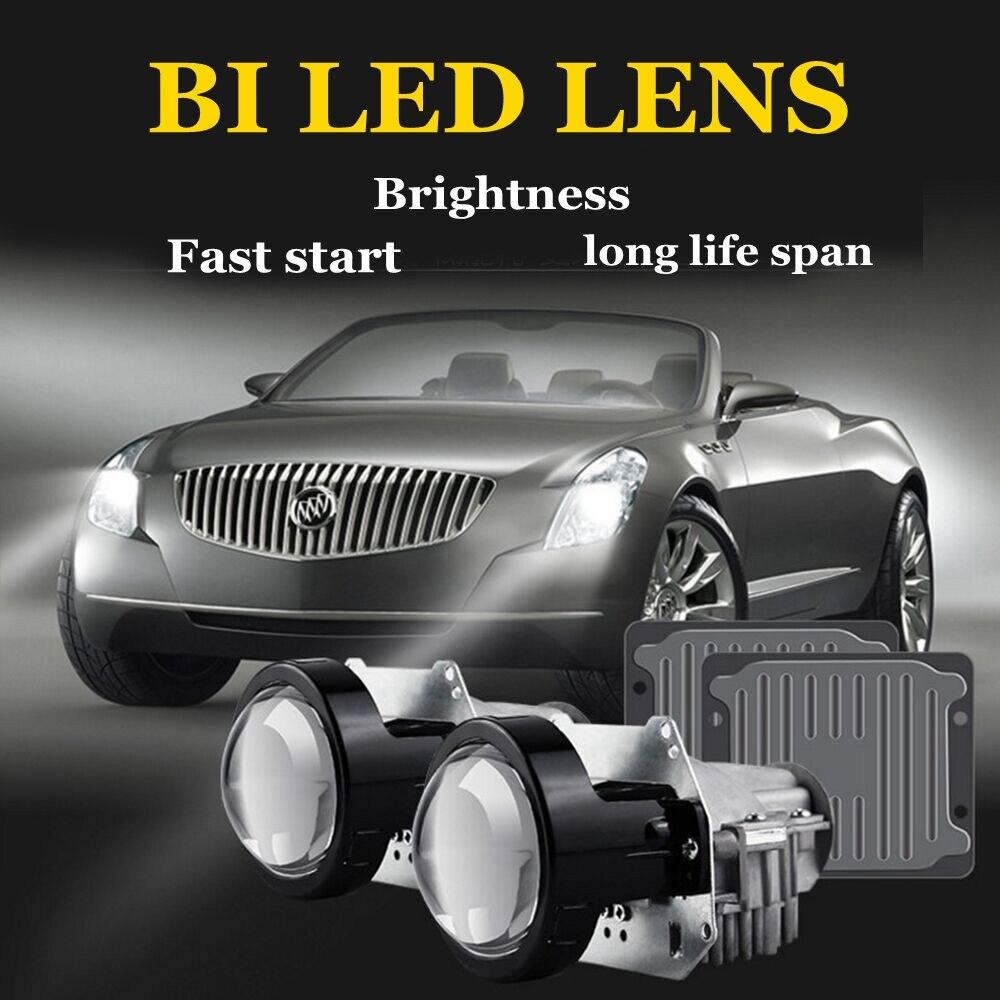 35 w 3.0 pollici BI lente del proiettore LED auto retrofit modificare universale LED Del Faro di Alto Basso Fascio hid allo xeno lente