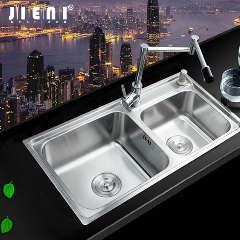 цена на Swivel 360 Single Handle Tap Rotated Spout Kitchen Basin Sink Torneira Stainless Steel Wash Basin Countertop Faucet Mixer Tap