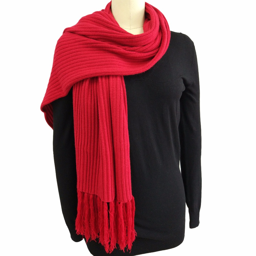Knitbest''180x50CM Winter Couple <font><b>Scarves</b></font> Red Tassel Fringe Thickening Christmas <font><b>Scarf</b></font> For Lovers <font><b>Rib</b></font> <font><b>Scarf</b></font> Soft Shawl